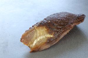 鯛燻製の断面鯛ジャーキー