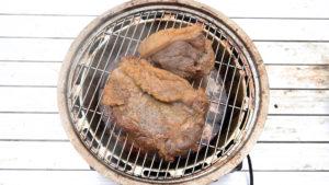 猪肉ベーコン燻製完了