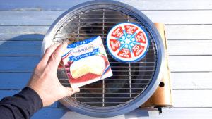 スモークチーズをアウトドアで作る