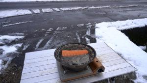 雪の日の燻製方法