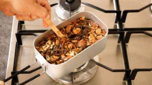 アサリの燻製炊き込みご飯