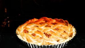 燻製アップルパイー焼き上がり温度