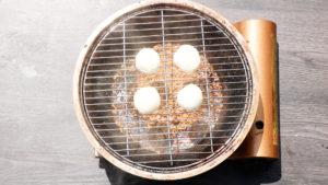 自家製手作りモッツアレラチーズを燻製する