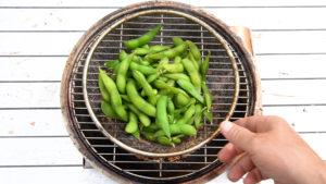 冷凍枝豆の燻製