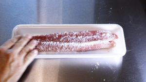鰹のタタキ風燻製塩漬け